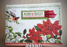 Pinecone, Simon Says Stamp, Graphic 45, Card Kit, Wednesday, Christmas Cards, Card Making, Challenge, Merry