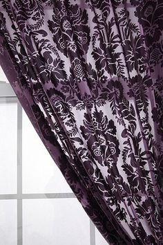 Damask Velvet Burnout Curtain - elegant, yet unique