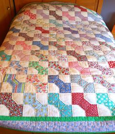 20 best bowtie quilts images on pinterest tie quilt bows and bowties vintage 1930s feed sacks bow tie quilt ccuart Image collections