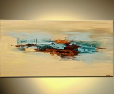 Original abstract art paintings by Osnat - abstract painting in sandy and brown colors