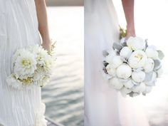 Love the peonies and the soft gray color! It would be perfect for our color scheme.    {Style} Beautiful Wedding Bouquets pt. 2 | by katecouples    #CupcakeDreamWedding