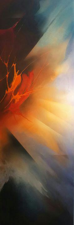 Acrylic paint by Binay Bükey. Work on 60 x 180 cm. MDF. June 2016