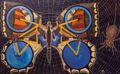 Original Bicycle Painting by Kiril Katsarov Butterfly Effect, Butterfly Net, Original Paintings, Original Art, Bicycle Painting, Conceptual Art, Ink Painting, New Art, Surrealism