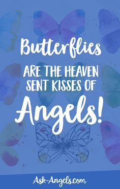 Butterflies are the heaven sent kisses of angels! #kissesofangels