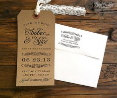 Kraft paper and lace from rusticweddingchic.com