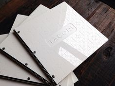 Custom square portfolio book with engraving treatment on white acrylic | Flickr - Photo Sharing!