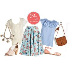 Freewheeling Whimsy Skirt by modcloth on Polyvore featuring Seychelles, Summer, outfit and ootd