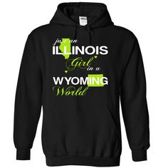 (ILJustXanhChuoi001) Just ᗗ An Illinois Girl In A Wyoming WorldIn a/an name worldt shirts, tee shirts