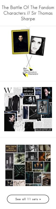 """""""The Battle Of The Fandom Characters // Sir Thomas Sharpe"""" by sleeping-with-loki ❤ liked on Polyvore featuring art, bofthefc, CABARET, Évocateur, Jean-Paul Gaultier, Banana Republic, Lands' End, Pierre Balmain, rag & bone and men's fashion"""
