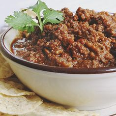 This chili recipe has CHOCOLATE in it.  Interesting!  Makes me want to try it.  She also shares ideas for freezing it in small portions and using it for different meals.