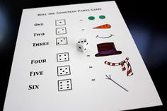 Toddler Approved!: Build a Snowman Dice Game --- Fun!  Would be good for waiting times in restaurants, etc too.