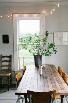 Un arbuste en guise de plante / Green Home / décoration champetre / Kinfolk Home