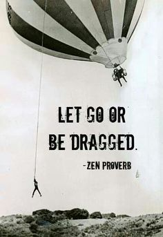 too funny Let go or be dragged. Zen Proverb