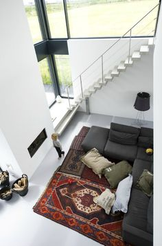 White and rugs