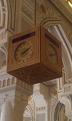 Salat Clock inside Masjid al-Haram (Gold)