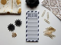 Notepad for a Great Cause - Breathe Notepad - All Profits Go To Caleigh Haber Towards Her Double Lung Transplant - Cystic Fibrosis Fundraiser - Desk Pad - To Do List