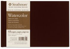 400 Series Watercolor Art Journal, Landscape 8.5 x 5.5 inches, 140lb, 300gsm paper 48 pages ($15), they also make an 8.5 x 11 inches, 48 pages ($21)