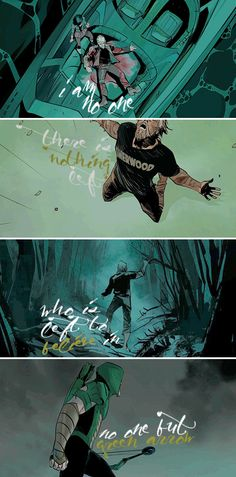my wallet is lost. my bank account is empty. my home is destroyed. my reputation is slandered. – green arrow #2 (written by benjamin percy; art by otto schmidt)