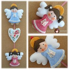 felt angel craft Giuliana - Original Handmade