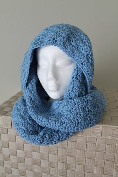 Handmade Hooded Scarf  Crochet Scarf   Women by SnuggableStitches