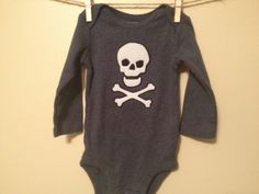 Rocker Babe  Navy Long Sleeve Onesie by thelittlebrownboot on Etsy, $15.00