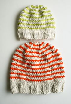 purlbee tutorial, stripe knit hat Bonnet Bébé, Tuto Tricot, Tricot Enfant,  Laine d459f6a4c6a