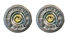 20 GA Winchester Silver Single Shotgun Shell Post Earrings by Spent Rounds Designs; Shotgun Shell Jewelry   Bullet Jewelry   Ammo Jewelry