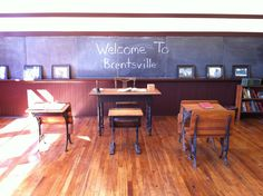 Interior of the restored Brentsville one room schoolhouse