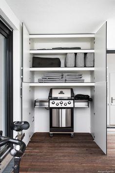Storage Design, Terrazzo, Outdoor Storage, Locker Storage, Pergola, Sweet Home, Layout, Cabinet, Closet