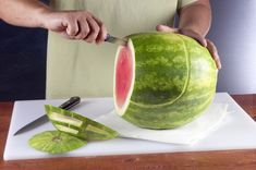 instructions for carving the watermelon Football Helmet