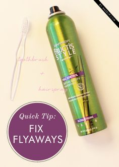 how to fix flyaways with simple everyday items // a must-read!