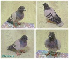 イメージ 3 Oh WOW, How amazing is this needle felted pigeon !!!!