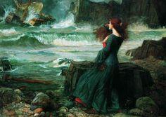 Джон Уильям Уотерхаус. Миранда и Буря / John William Waterhouse. Miranda and the Tempest.