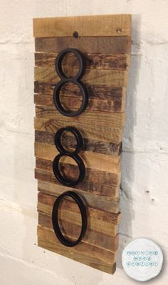 decorative wooden house number plaque with numbers rustic plaque with modern metal numbers - Decorative House Numbers
