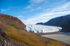 Glacier, Etah, nord du Groenland.