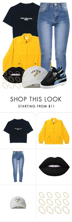 """""""3 26 17"""" by miizz-starburst on Polyvore featuring WithChic, tuktuk, Lime Crime, Entree Lifestyle, ASOS and Puma"""
