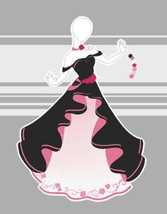 ::Commission 12 by Scarlett-Knight on DeviantArt Pretty Outfits, Pretty Dresses, Beautiful Dresses, Cool Outfits, Clothing Sketches, Dress Sketches, Dress Drawing, Drawing Clothes, Fashion Design Drawings