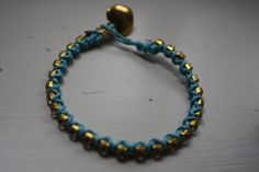 AMS Gold Crystal Wrapped Bracelets in Aqua by anafili on Etsy, $10.00
