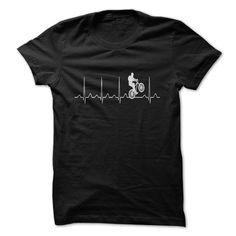 Mountainbike Heartbeat - #sister gift #shirt