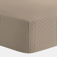 Brown Gingham Crib Sheets | Chocolate Brown Gingham Fitted Crib Sheets | Carousel Designs 500x500 image