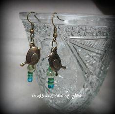 Birds and Beads Earrings by CardsAndMoreBySheri on Etsy, $10.00