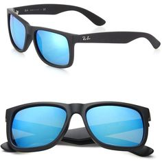 f4adb17e66b9 Ray-Ban Boyfriend 55MM Mirrored Wayfarer Sunglasses ( 150) ❤ liked on  Polyvore featuring