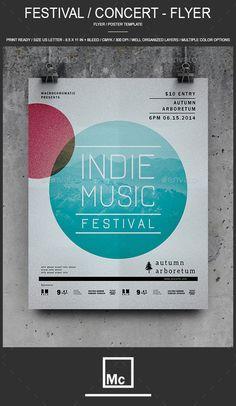 Festival / Concert - Flyer — Photoshop PSD #flyer #flat design • Available here → https://graphicriver.net/item/festival-concert-flyer/12490660?ref=pxcr