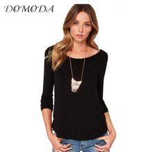 DOMODA 2017 New Fashion Shirt Women Spring Black/White Long Sleeve Open Back Female Tops Twisted Ruched Shirt //FREE Shipping Worldwide //