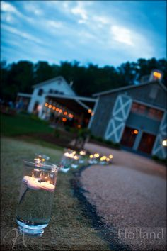 Hello wedding venue....Pippin Hill Farm. Mason jar foot lights!!!! Love them :)