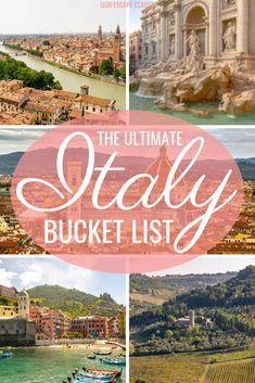 A Dreamy Italy Bucket List: everything you need to do in Italy! Eine Dreamy Italy Bucket List: Alles, was Sie in Italien tun müssen! Italy Travel Tips, New Travel, Travel Alone, Travel Europe, Travel Goals, Travel Bag, Europe Train, Travel Info, Travel Hacks