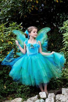 Fairy Princess Flower Sleeve Tutu Dress Costume by EllaDynae Flower Girls, Flower Girl Dresses, Cute Costumes, Costume Halloween, Fairy Costumes, Bandeau Rose, Tutu Rose, Princesa Tutu, Princess Tutu Dresses