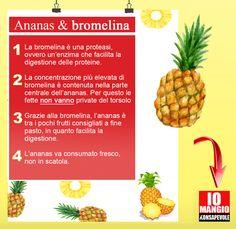 Perchè l'ananas è un ottimo alleato in estate? Tutto merito della bromelina che ha effetti digestivi e antinfiammatori.  #ananasmonamour #ananas