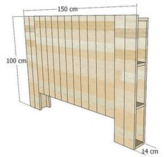 Wood Pallets 69967 How to make a pallet wood headboard? Bed Headboard Wooden, Wooden Pallet Beds, Bed Frame And Headboard, Headboards For Beds, Pallet Wood, Diy Pallet Headboard, Wood Wood, Diy Storage Bed, Wie Macht Man