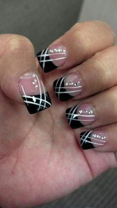 44 New Nail Art Tutorials-Best Nail Trends Ideas 2016 Fabulous Nails, Gorgeous Nails, Pretty Nails, French Nails, French Pedicure, White Pedicure, French Manicures, Black French Manicure, Gel Nagel Design